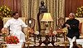 The President of the Democratic Socialist Republic of Sri Lanka, Mr. Maithripala Sirisena meeting the President, Shri Pranab Mukherjee, in New Delhi on February 16, 2015.jpg