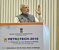 The Prime Minister, Shri Narendra Modi addressing at the PETROTECH-2016 12th International Oil & Gas Conference and Exhibition, in New Delhi on December 05, 2016.jpg