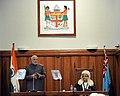 The Prime Minister, Shri Narendra Modi addressing the Parliament of Fiji, in Suva, Fiji on November 19, 2014.jpg