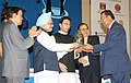 The Prime Minister Dr. Manmohan Singh presented the Lifetime Achievement Award Petrotech-2010, at the inauguration of 9th International Oil and Gas Conference and Exhibition (Petrotech) 2010, in New Delhi (3).jpg