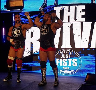 Dash Wilder - Dash (right) with Dawson as the NXT Tag Team Champions in 2016.
