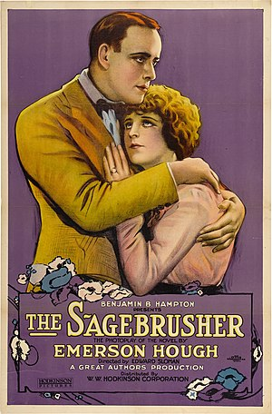 Emerson Hough - Poster for the movie adaptation of The Sagebrusher (1920)