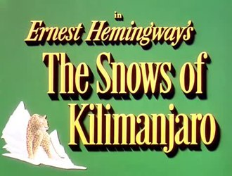 ファイル:The Snows of Kilimanjaro (1952).webm