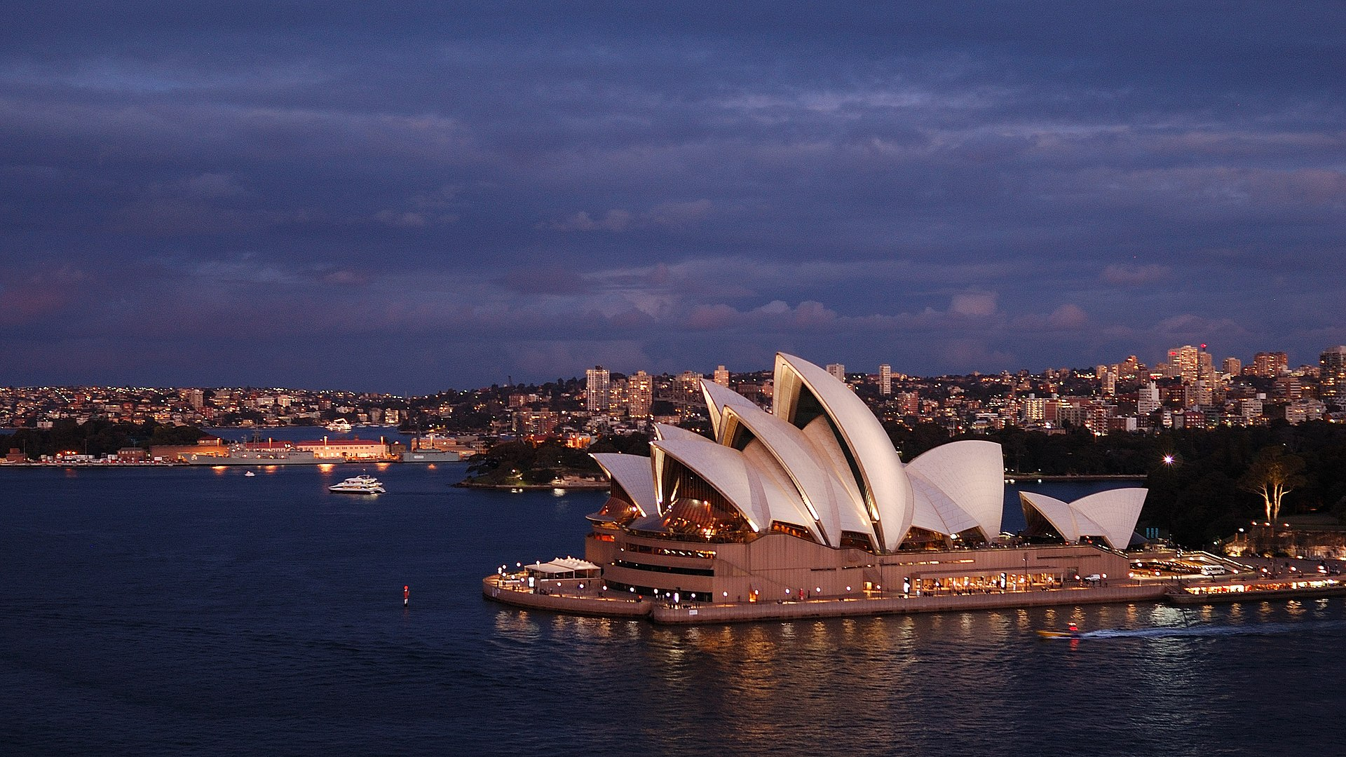1920px The Sydney Opera House at dusk - View Photos Of Sydney Opera House  Background