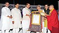 "The Union Home Minister, Shri Rajnath Singh presented the certificates at the ""International Buddha Poornima Diwas Celebration 2016"", in New Delhi (2).jpg"