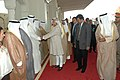 The Vice President, Shri Mohd. Hamid Ansari meeting the dignitaries of Kuwait, on his arrival at Kuwait on April 06, 2009.jpg