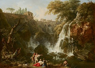 The Waterfalls at Tivoli, with the Villa of Maecenas