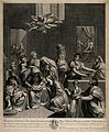 The birth of the Virgin Mary in a wealthy household. Engravi Wellcome V0034531.jpg