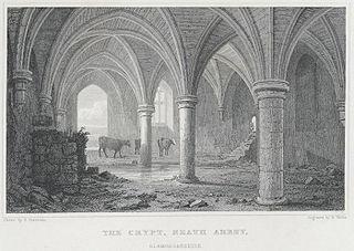 The crypt, Neath Abbey, Glamorganshire