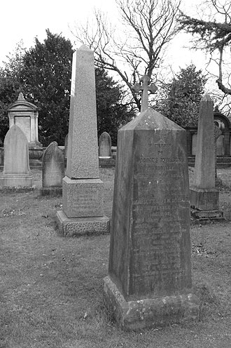 James Wilson (zoologist) - The grave of James Wilson, Dean Cemetery