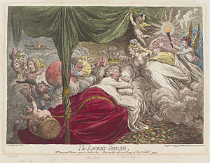 The lover's dream, by James Gillray (died 1815...