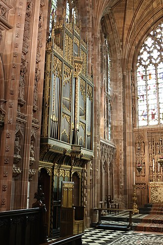 Church of the Holy Angels, Hoar Cross - The organ case