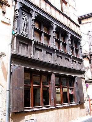 Thiers, Puy-de-Dôme - Half-timbered house in the city center.