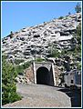 This tunnel is situated at an elevation of 5738 feet (1749 m) Two and a half miles East of Yuba Gap California @ Crystal Lake The Eastbound California Zephyr is shown about to enter the short tunnel there.. - panoramio.jpg