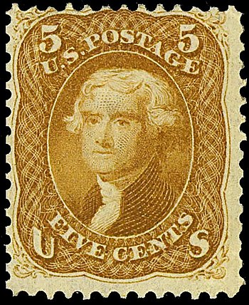 US Postage stamp: Thomas_Jefferson_1861_Issue-...