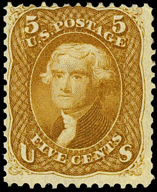 Thomas Jefferson 1861 Issue-5c