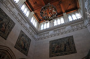 Thompson Memorial Library - Central Tower and Tapestries