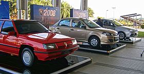 Three generations of Proton Saga (30383928616).jpg