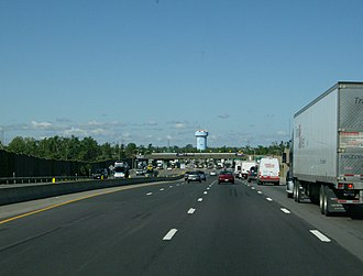 New York State Thruway - Approaching the Williamsville toll barrier on I-90 / Thruway westbound