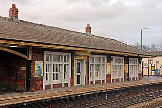 St Helens Junction railway station - Image: Ticket office, St. Helens Junction railway station (geograph 3818807)