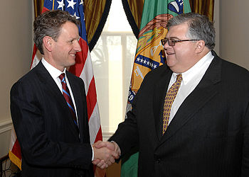English: Secretary Geithner met with Mexican F...