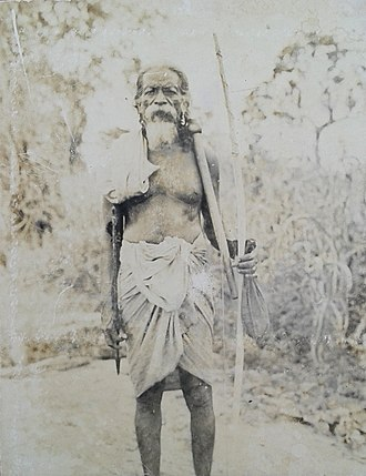 Vedda - Most prominent Vedda chief late Tisahamy Aththo.