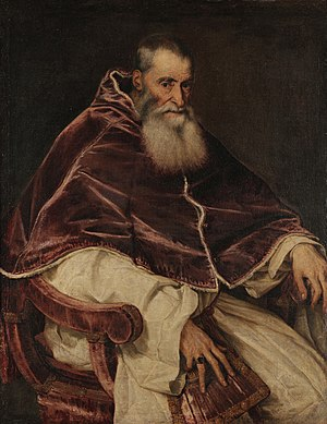 Portrait of Pope Paul III (Titian) - Image: Titian Pope Paul III WGA22962