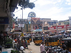 Busy South Usman Road in T. Nagar