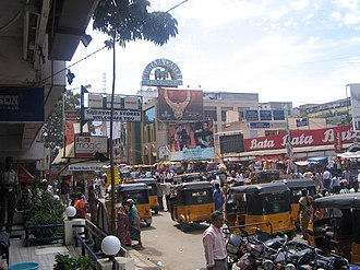 T. Nagar - Busy South Usman Road in T. Nagar