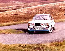 Tony Pond met de Talbot Sunbeam Lotus in de Manx International Rally van 1979