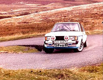 Pond driving a Talbot Sunbeam Lotus at the 1979 Manx International Rally. Tony Pond - 1979 Manx International Rally.jpg