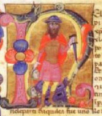 Totila - Totila in the 14th century Nuova Cronica
