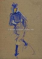 Toulouse-Lautrec - JANE AVRIL ( La mélinite dansant ), 1892, MTL.148.jpg