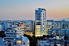 Tower 25 by night Nicosia Republic of Cyprus Kipros.jpg
