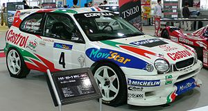 Didier Auriol - Auriol's Toyota Corolla WRC on display.