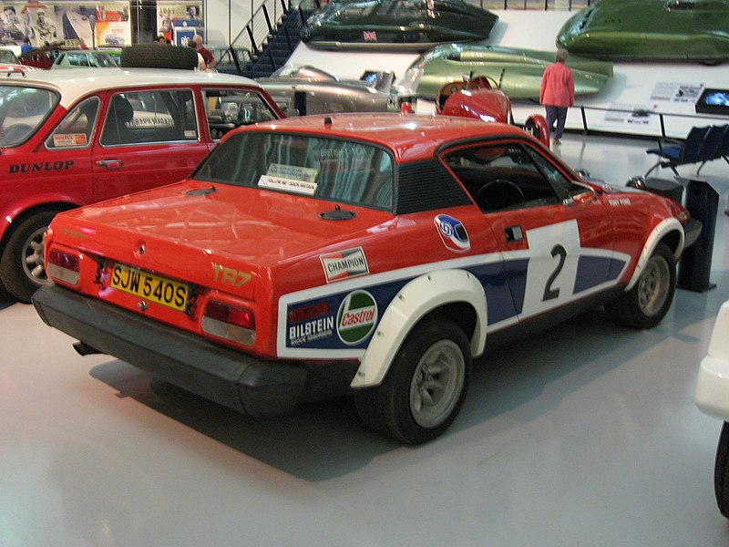 Triumph tr7 v8 rally car at the British motoring heritage museum ...