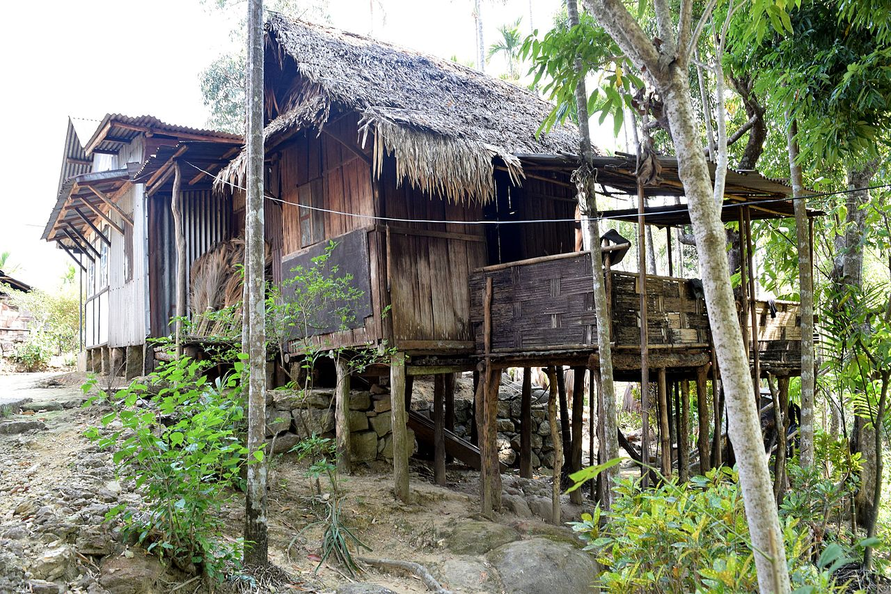 Tree houses in Mawlynnong village one of the top places to visit near Shillong.