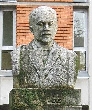 Traian Lalescu - Bust of Traian Lalescu, in Timişoara.