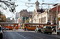 Trams in Sofia in front of Central Market Hall 2012 PD 22.JPG
