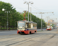 Trams near the monorail line in Moscow Russia.png
