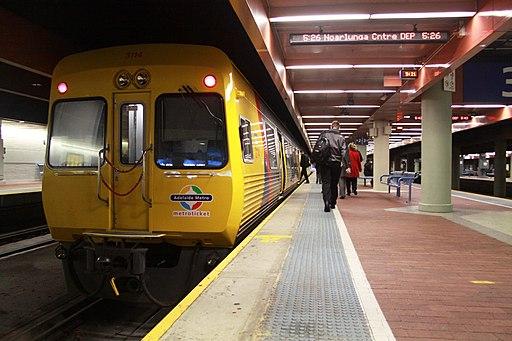 TransAdelaide 3000 class railcar at Adelaide station