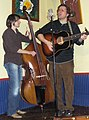 Trent Wagler and Brian Dickel The Steel Wheels Little Grill Collective Harrisonburg VA February 2009.jpg