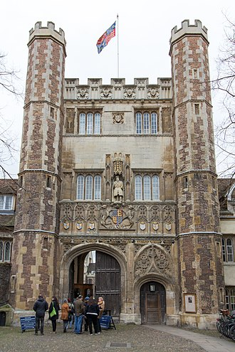 Issue of Edward III of England - Edward's sons' arms appear over the Great Gate of Trinity College, Cambridge: York, Clarence, Wales, Hatfield, Lancaster, and Gloucester.