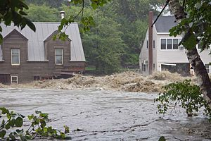 Peter Shumlin - Image: Tropical Storm Irene Flood Buildings at Quechee Vermont 2011 08 28