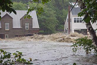 Peter Shumlin - Image: Tropical Storm Irene Flood Buildings at Quechee Vermont 2011 08 28