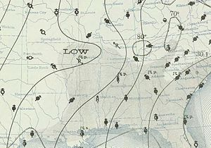 1939 Atlantic hurricane season - Image: Tropical low 1939 06 17 weather map
