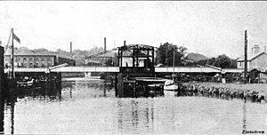 Trowse Bridge - The 1905 bridge, newly installed