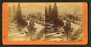 Truckee River - The Truckee River at Verdi, Nevada when the Central Pacific Railroad reached the site in 1868.