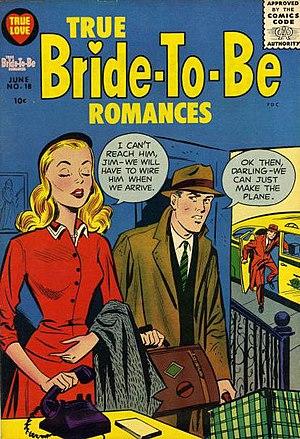 Portrayal of women in American comics - Image: True Bride to Be Romances No 18 Harvey, 1956 SA