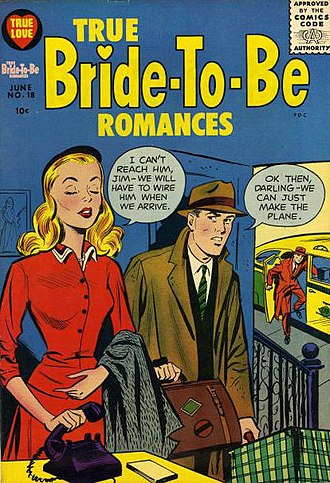 Portrayal of women in American comics - Image: True Bride to Be Romances No 18 Harvey, 1956 SA